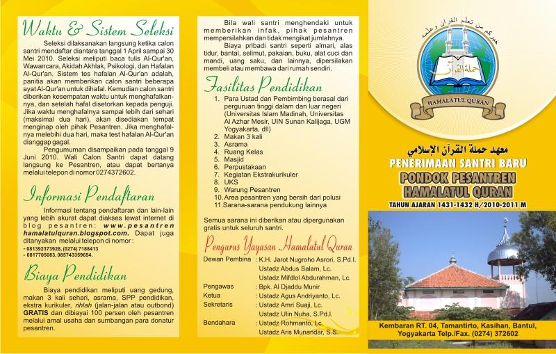 Info: Belajar di Ponpes Gratis, Ingin Jadi Hafizh Quran